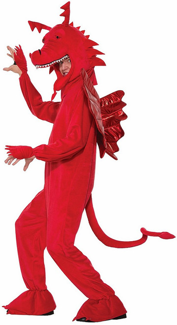 Costume Mascotte du Dragon Rouge