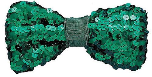 Sequin Bow Tie vert