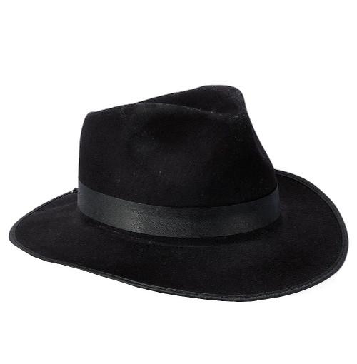 Chapeau Noir de Gangster