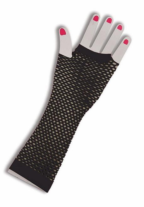 Gants noirs Résille Fingerless