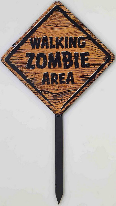 Zombie Warning Sign avec piquet