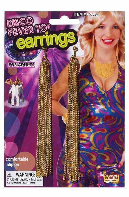 70 Boucles d'oreilles de la chaîne d'or Disco