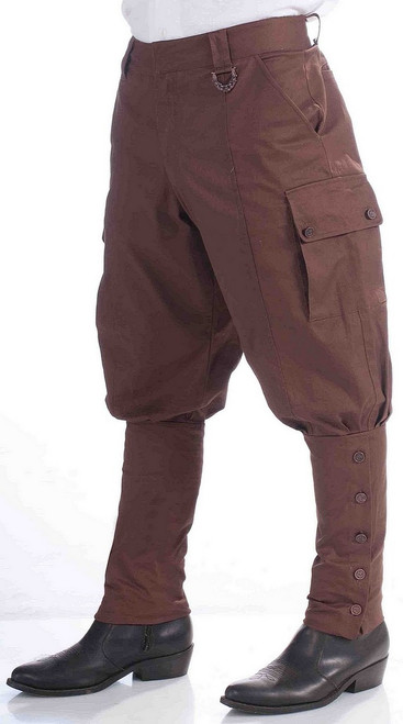 Pantalon Steampunk Marron pour Adulte