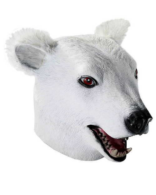 Masque de luxe ours polaire Latex