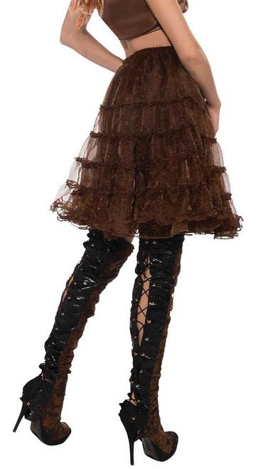 Steampunk Brown long Crinoline