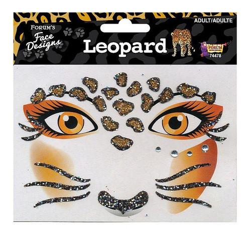 Tatouages Leopard Glitter visage