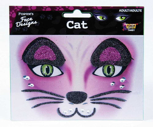 Cat Glitter Visage Tattoo