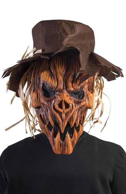 Citrouille épouvantail masque et chapeau