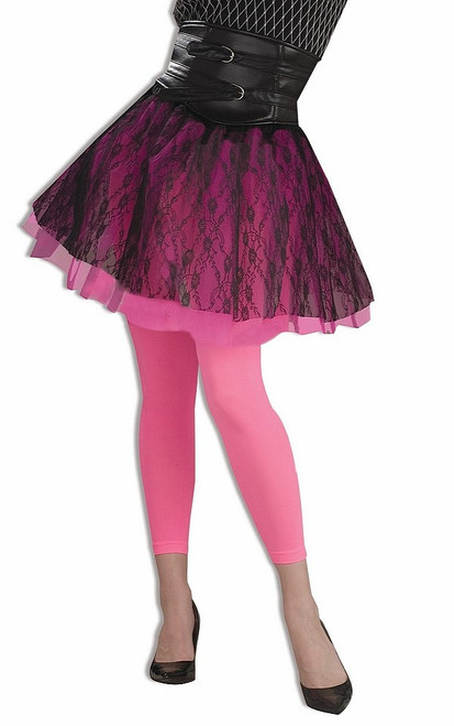 Rose Footless Neon Tights
