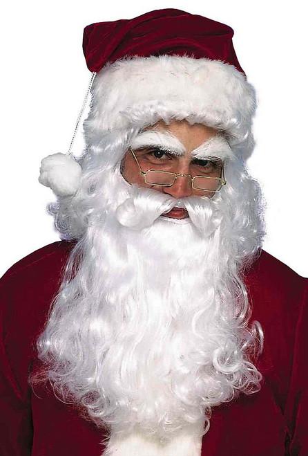 Ensemble Premium Barbe et Perruque du Père Noel