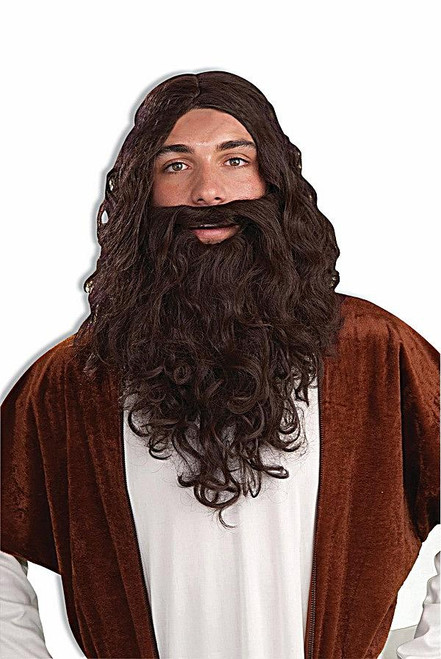 brun biblique perruque & Set Barbe