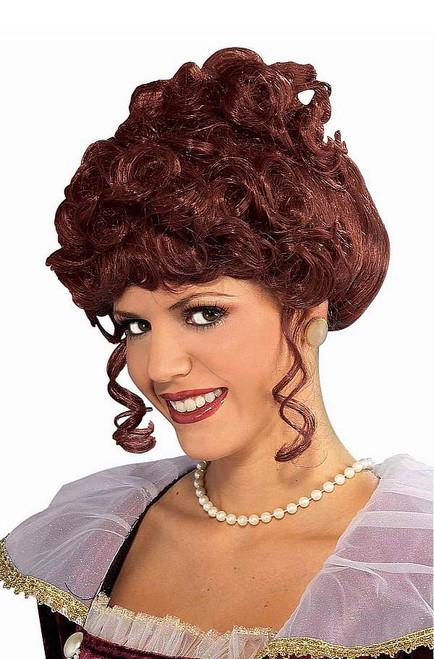 brun dame victorienne perruque