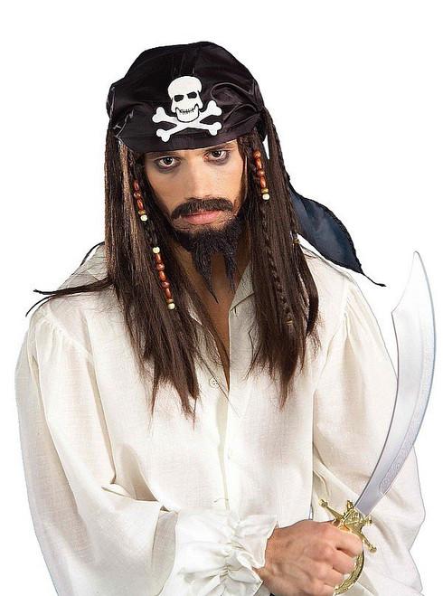 Pirate des Caraïbes perruque brune