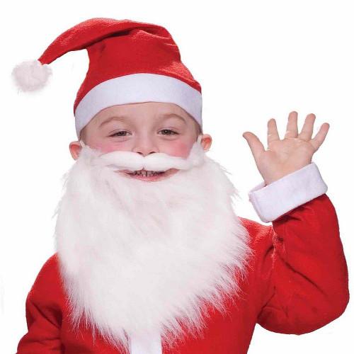 Barbe et Moustache du Père Noel pour Enfant