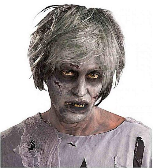 Zombie créature grise perruque
