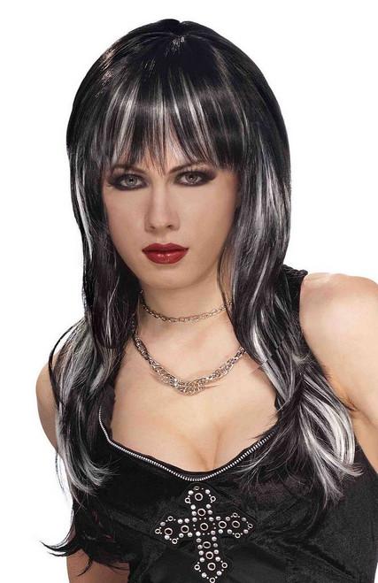 Vicious noir et blanc perruque