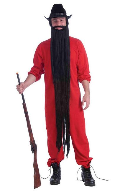 Longue barbe noire