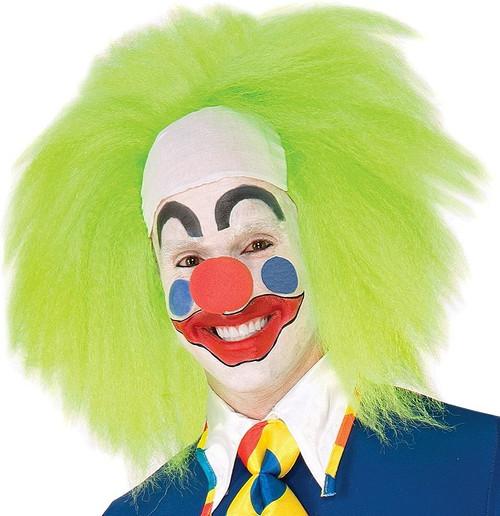 Lime Green Clown perruque
