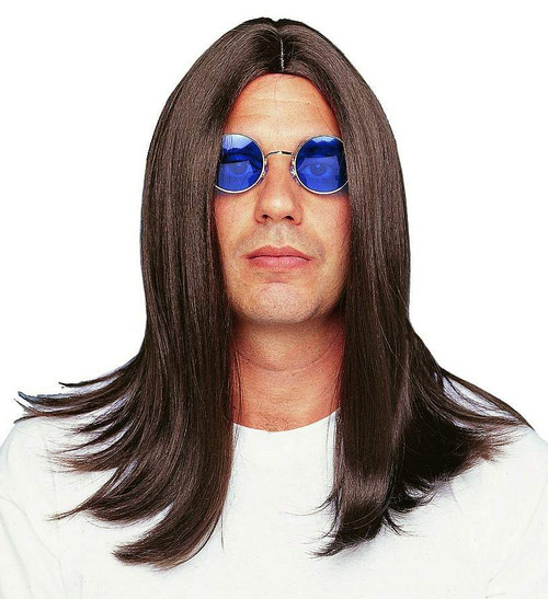 Hippie Lennon Brown perruque 18 ''