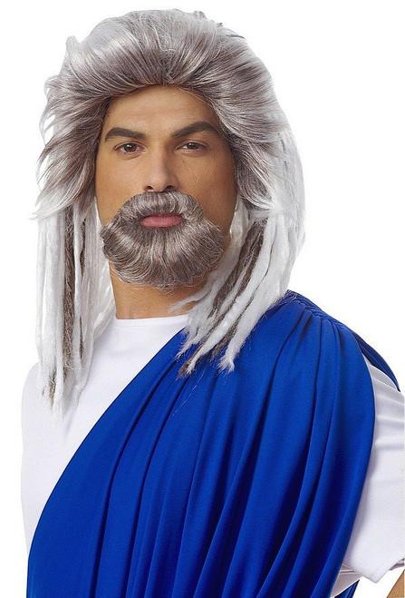 Roi de la mer grise perruque