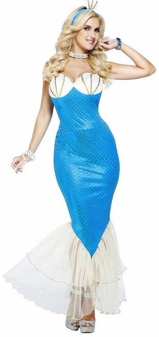 Costume de la Sirène Bleue Magique