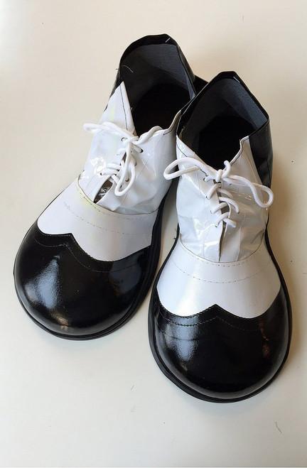 Noir / Blanc Vinyle Clown Chaussures