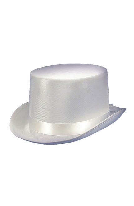 Satin Top White Hat