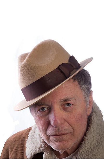 Beige Gangster Hat
