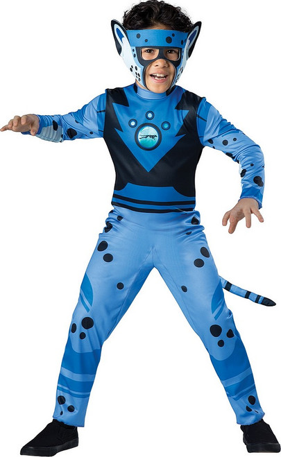 Costume du Guépard Sauvage Bleu pour Enfant