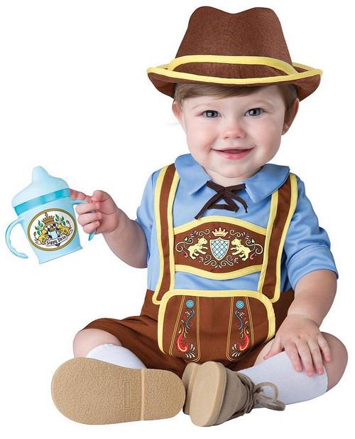 Costume du Petit Nourrisson en Lederhosen