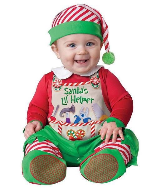 Costume de Assistant du Père Noël pour Bébé