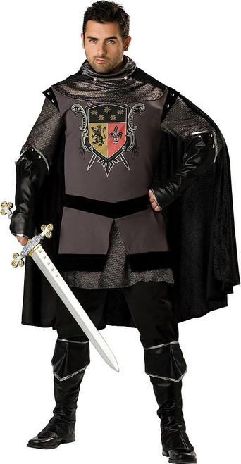 Costume de Chevalier Noir Taille plus
