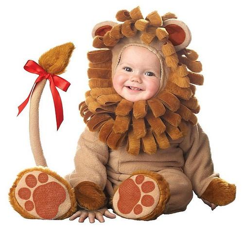 Costume Petit Lion en Peluche pour Bébé