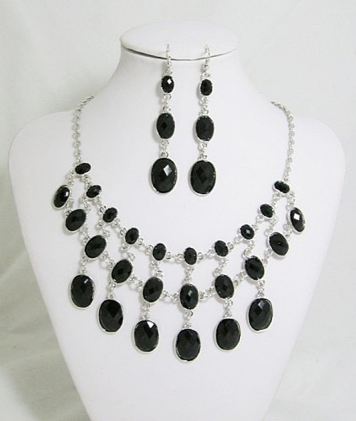 Set Collier noir