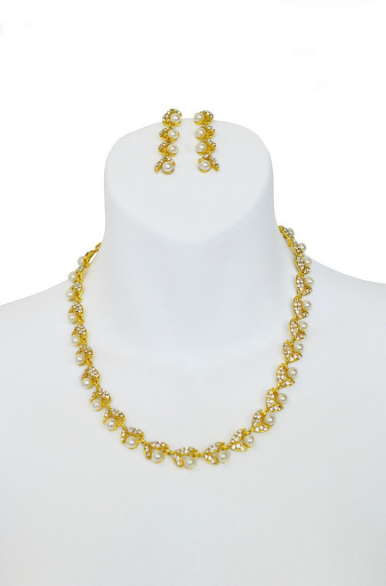Gold Pearl Set Collier