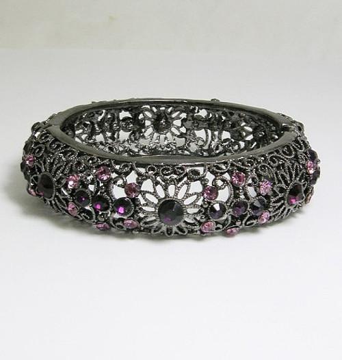 Violet / Noir Bracelet
