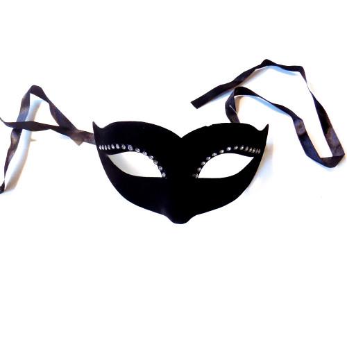 Masque noir Rhinestoned vénitien