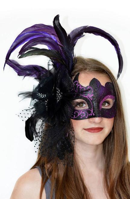 Violet & Black Mask vénitien
