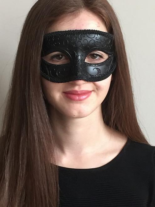 Masque vénitien classique Noir