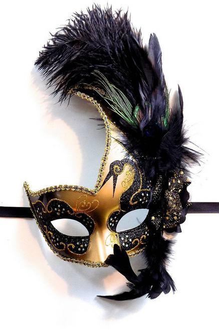 Masque vénitien noir / or