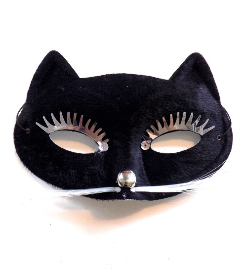 Masque Visage de chat noir Party