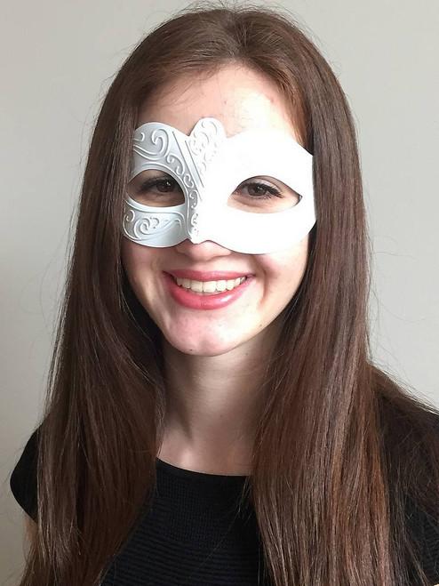Masque vénitien blanc
