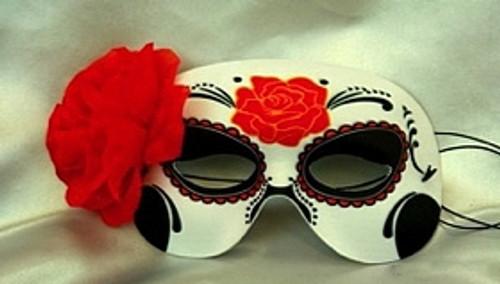Jour du masque mort et fleurs