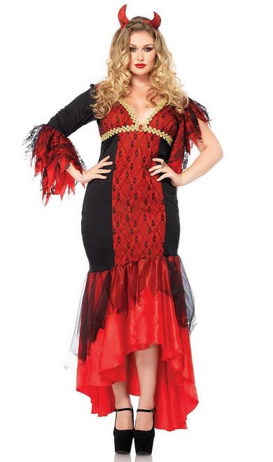 Costume de la diablesse Diva taille plus