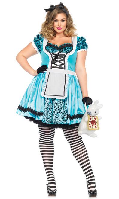 Costume d'Alice Bleue Ciel Taille Plus