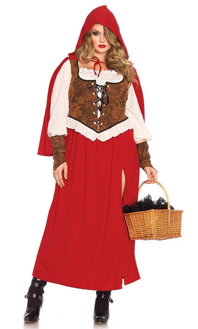 Costume du Petit Chaperon Rouge des Bois Taille Plus