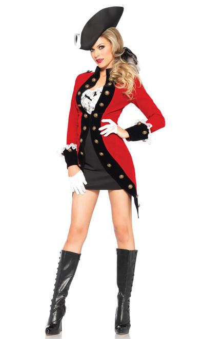 Costume de la Rebelle Britannique à Manteau Militaire