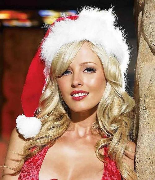 Velvet Chapeau de Père Noël