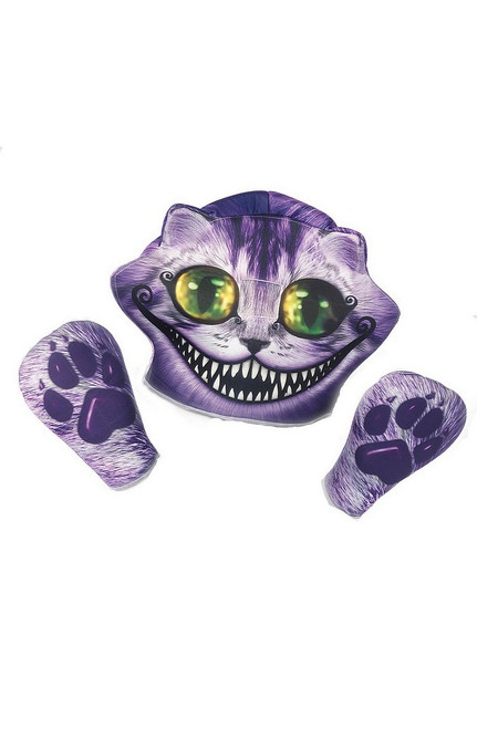 Cheshire masque et des gants adultes