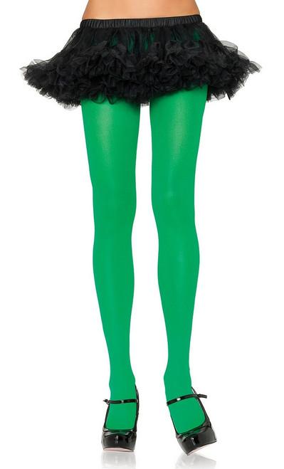 Nylon Collants Vert Reine